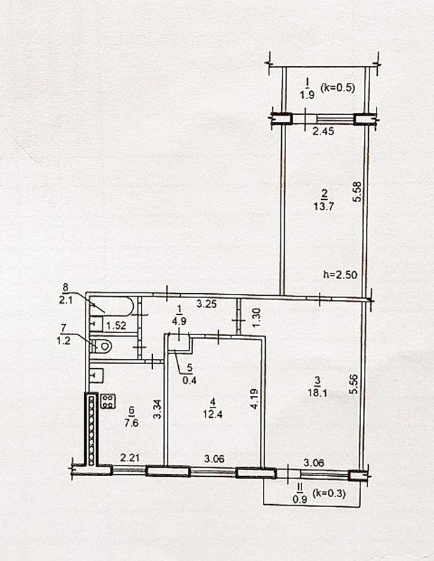 продам 3-комнатную квартиру Днепр, ул.Макиевской Л. пер., 5 - Фото 9