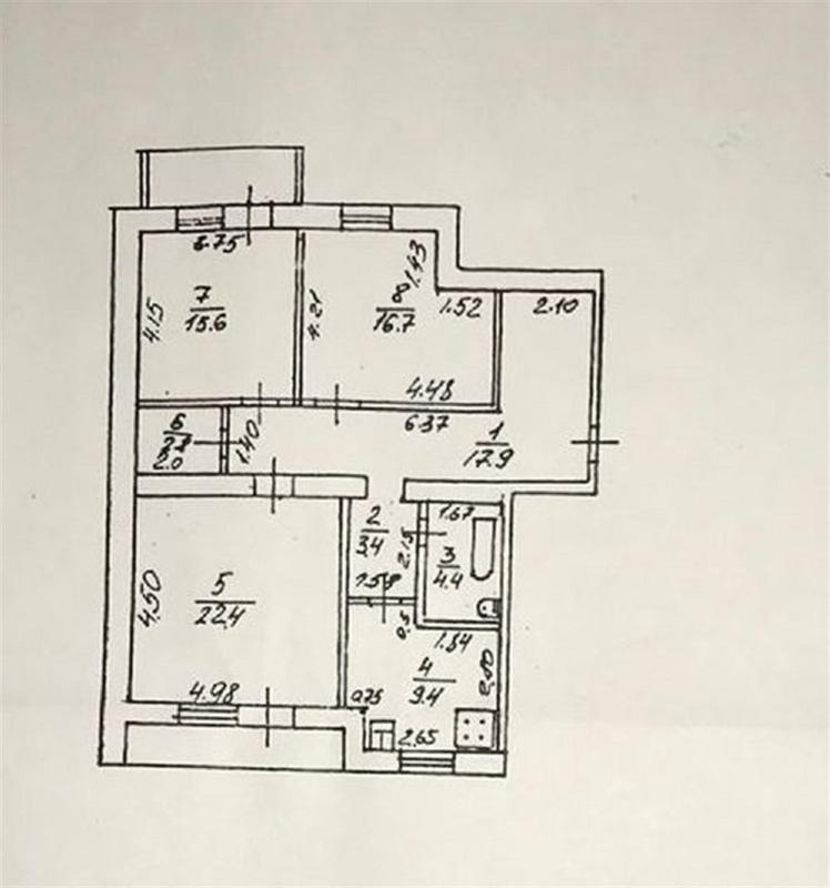 продам 3-комнатную квартиру Днепр, ул.Радистов , 2 - Фото 12