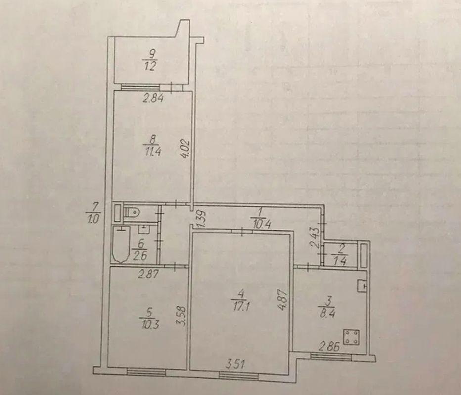 продам 3-комнатную квартиру Днепр, ул.Донецкое шоссе, 97 - Фото 11