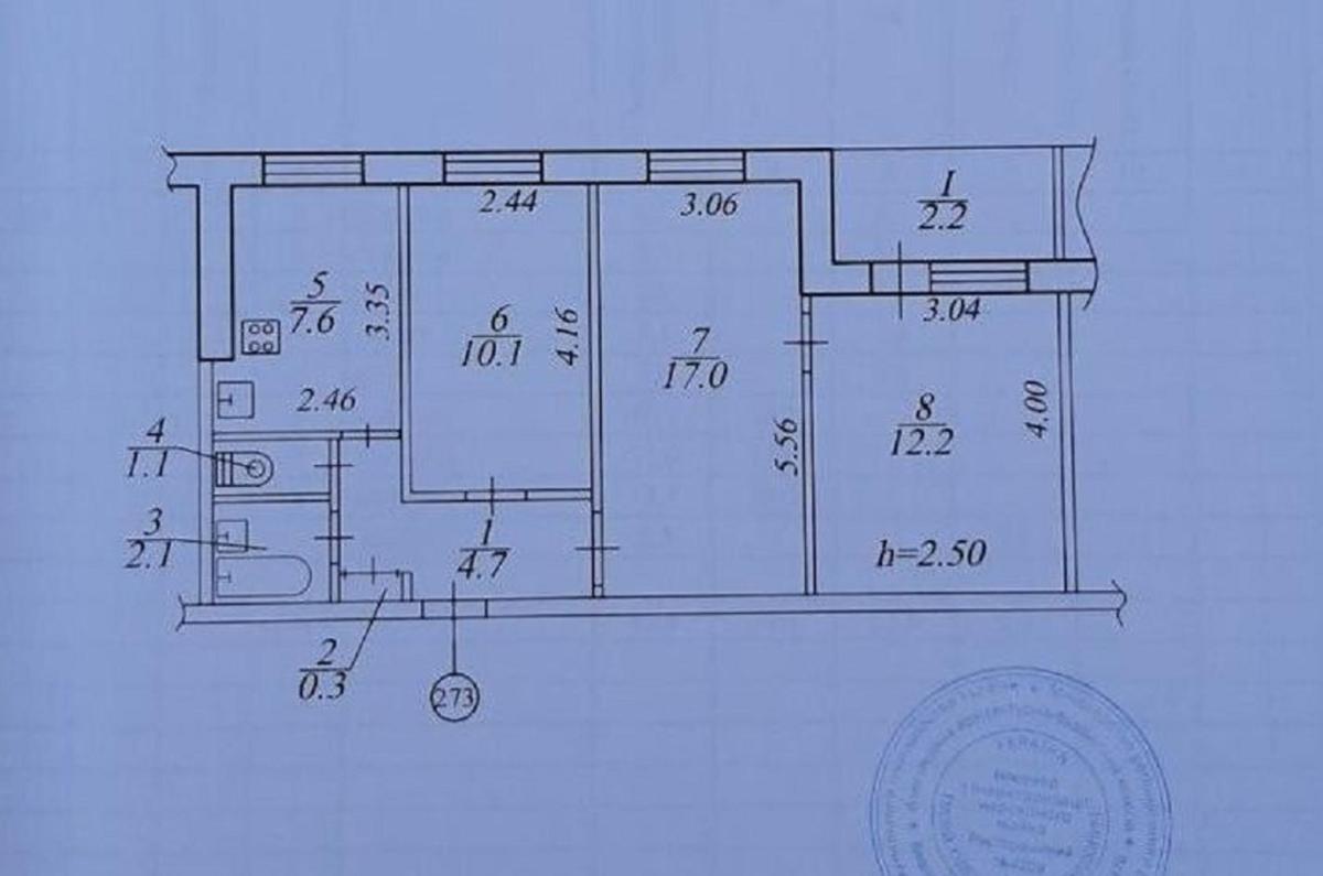 продам 3-комнатную квартиру Днепр, ул.Калиновая , 65 - Фото 12