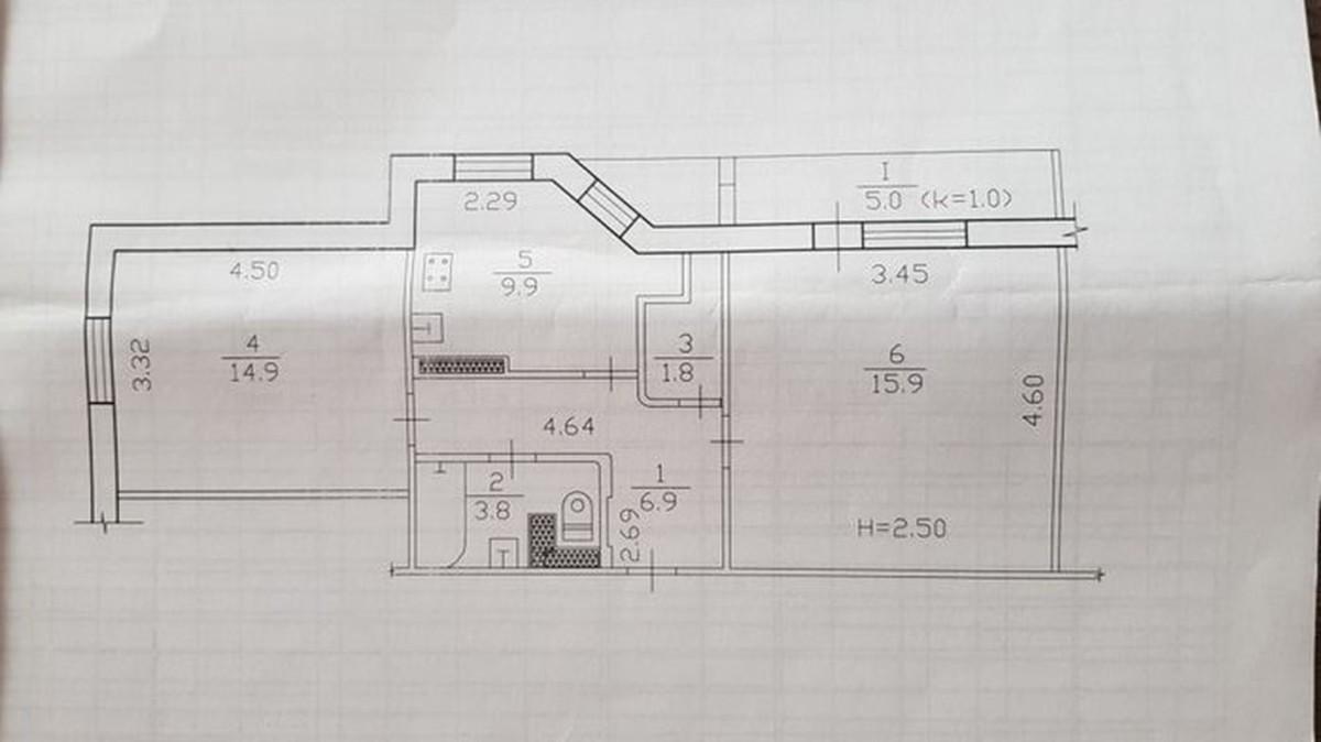 продам 2-комнатную квартиру Днепр, ул.Мира пр., 7 - Фото 15